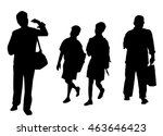 school boys   walking people... | Shutterstock .eps vector #463646423