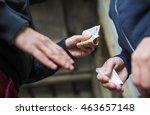 drug trafficking  crime ... | Shutterstock . vector #463657148