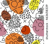 geometric vector pattern with... | Shutterstock .eps vector #463658339