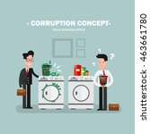 corruption concept   Shutterstock .eps vector #463661780