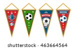triangle soccer pennants set... | Shutterstock .eps vector #463664564