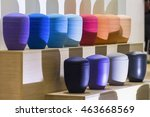 many colored funerary urns. | Shutterstock . vector #463668569