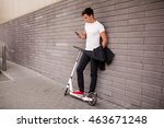 scooter and man | Shutterstock . vector #463671248