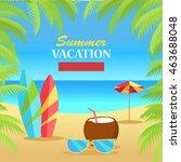 summer vacation concept banner. ... | Shutterstock . vector #463688048