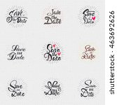 save the date   calligraphic... | Shutterstock .eps vector #463692626