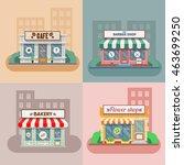 flower shop  laundry  barber ... | Shutterstock .eps vector #463699250