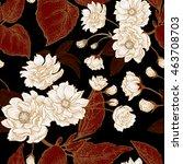 vector seamless floral pattern... | Shutterstock .eps vector #463708703