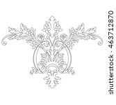 black and white floral... | Shutterstock .eps vector #463712870