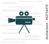 cinema camera icon | Shutterstock .eps vector #463716470