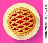 apple pie vector icon flat style   Shutterstock .eps vector #463717148