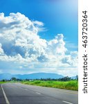 asphalt road and beautiful sky. | Shutterstock . vector #463720364