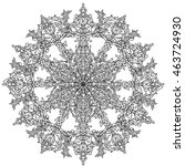 contoured snowflakes in shaped... | Shutterstock .eps vector #463724930