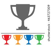 trophy cup vector icon. simple... | Shutterstock .eps vector #463727309