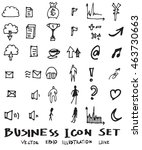 business doodles sketch vector... | Shutterstock .eps vector #463730663