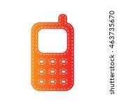 cell phone sign. orange... | Shutterstock . vector #463735670