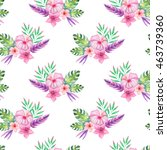 seamless pattern with... | Shutterstock . vector #463739360
