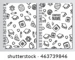 notebook cover. back to school... | Shutterstock .eps vector #463739846