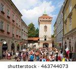 krakow  poland   july 29  2016  ... | Shutterstock . vector #463744073