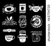 set retro vintage logos for... | Shutterstock .eps vector #463754720