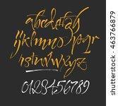 vector alphabet. hand drawn... | Shutterstock .eps vector #463766879