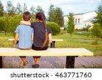 boy and girl embrace. children... | Shutterstock . vector #463771760
