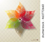 abstract leaves background.... | Shutterstock .eps vector #463772660