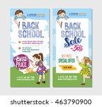 back to school flyer template... | Shutterstock .eps vector #463790900