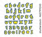 alphabet in pokemon cartoon... | Shutterstock .eps vector #463799243