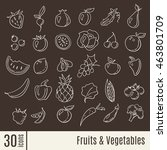 fruits and vegetables info... | Shutterstock .eps vector #463801709