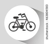 save energy icon  green bike ... | Shutterstock .eps vector #463804583