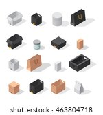 different box vector icons... | Shutterstock .eps vector #463804718