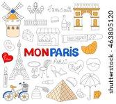 Icons Set Paris Cuisine And...