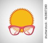 sunglasses  vacation on beach... | Shutterstock .eps vector #463807280