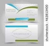 business card set template....   Shutterstock .eps vector #463813400