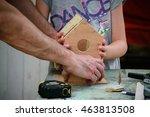 Building A Birdhouse. Little...