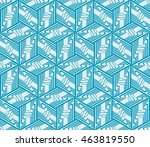blue tone. seamless vector... | Shutterstock .eps vector #463819550