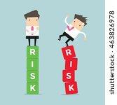 business risk management of...   Shutterstock .eps vector #463826978