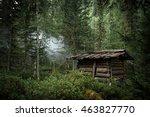 old abandoned hunter's cabin in ...   Shutterstock . vector #463827770
