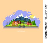 eco house landscape   Shutterstock .eps vector #463844429