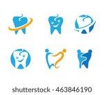 dental logo template | Shutterstock .eps vector #463846190