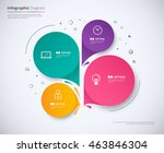 infographic template design... | Shutterstock .eps vector #463846304
