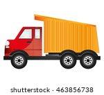 flat design cargo truck icon...