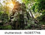 ta prohm temple  angkor ... | Shutterstock . vector #463857746