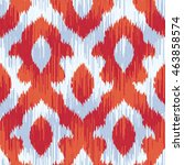 ikat pattern seamless... | Shutterstock .eps vector #463858574