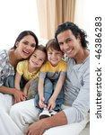 close up of a smiling family... | Shutterstock . vector #46386283