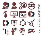 system  user  administrator... | Shutterstock .eps vector #463869506