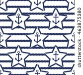 set of sea and nautical... | Shutterstock . vector #463875380