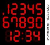 set of digital numbers | Shutterstock .eps vector #463884230