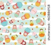 matryoshka russian doll... | Shutterstock .eps vector #463886918
