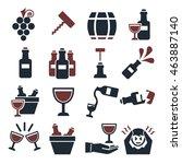 wine  claret icon set | Shutterstock .eps vector #463887140